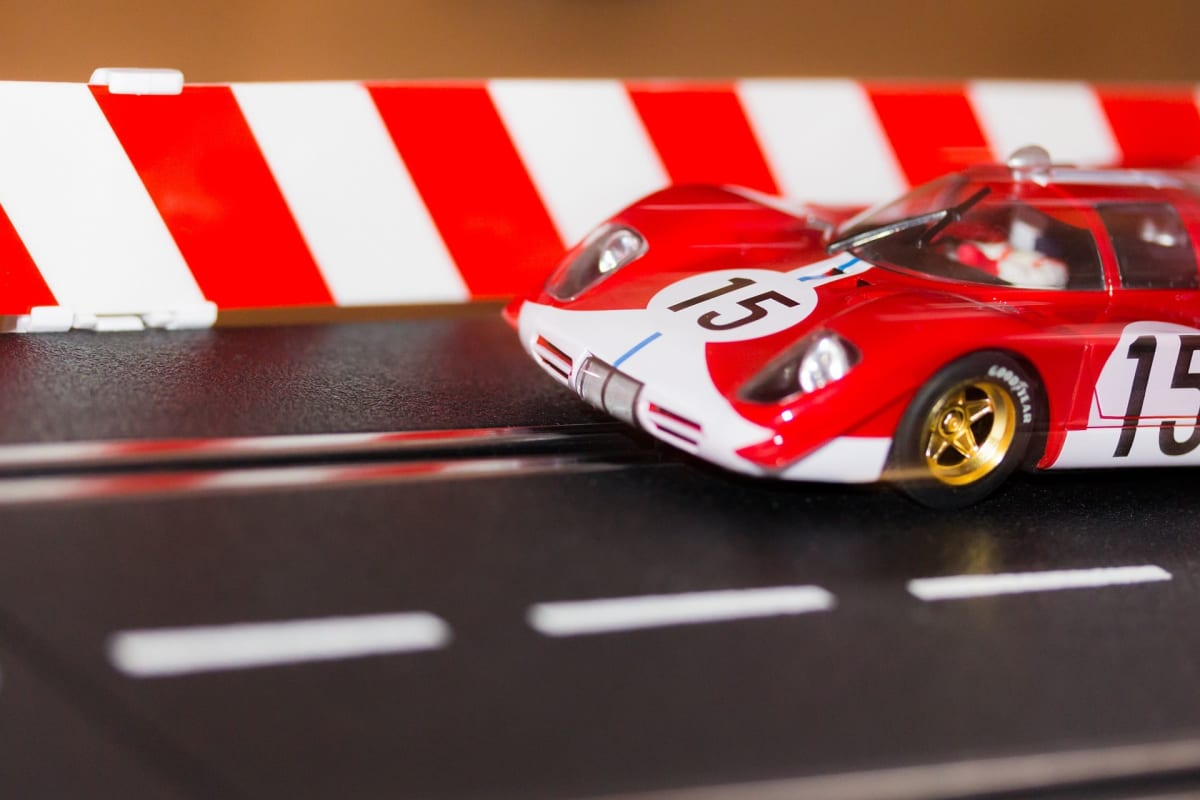 Get into slot car racing! Photo by Christian Laudor. car attractions in los angeles.