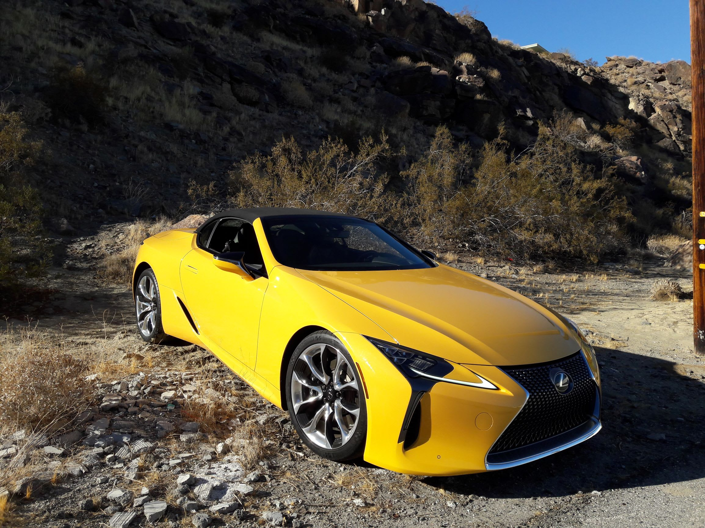 The Lexus LC500 looks sharp from any angle.