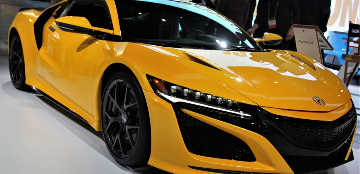 Acura NSX in bright yellow