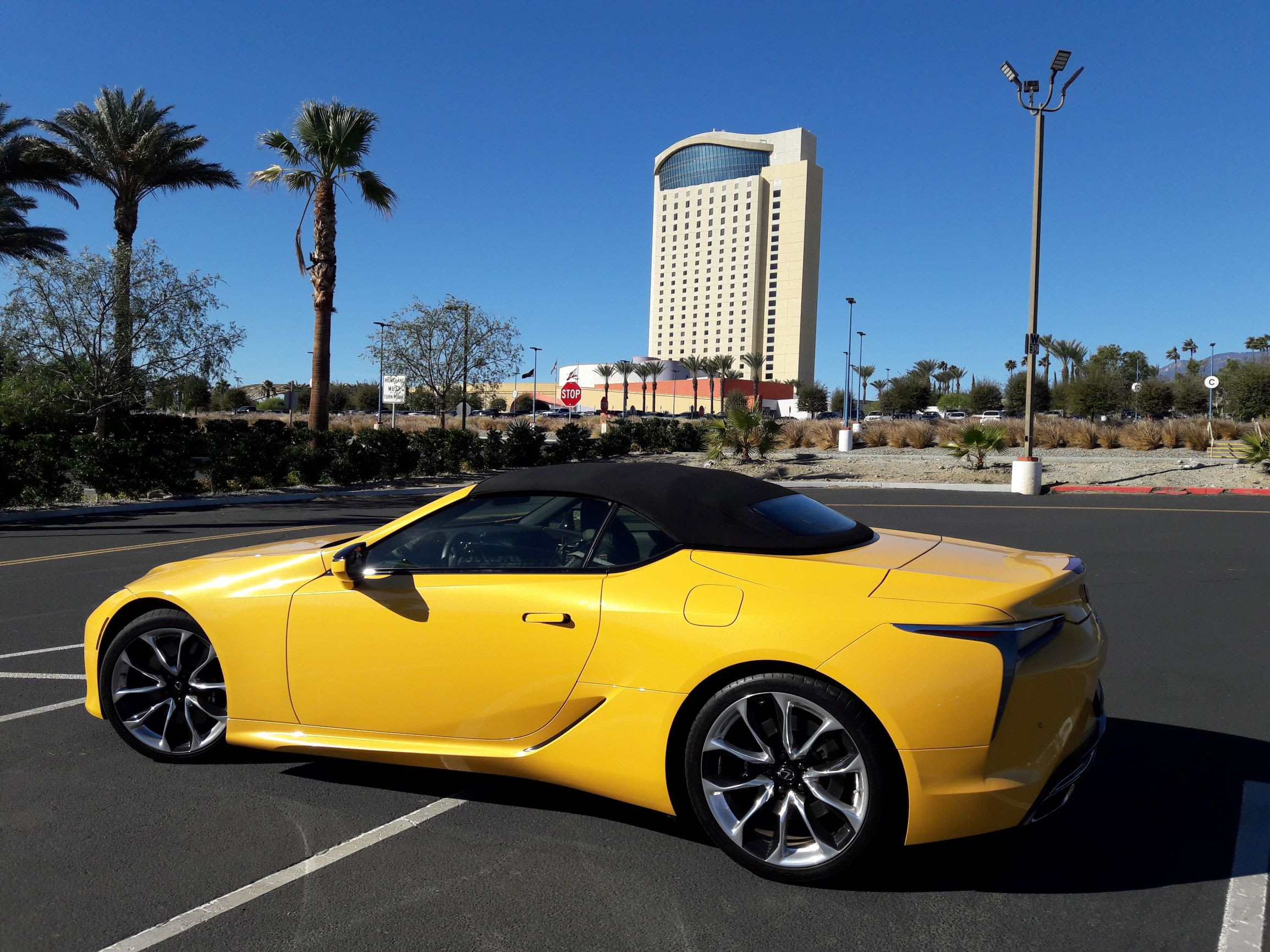 My LC500 was a stunning ray of yellow, which looked great against the blue skies of Palm Springs.