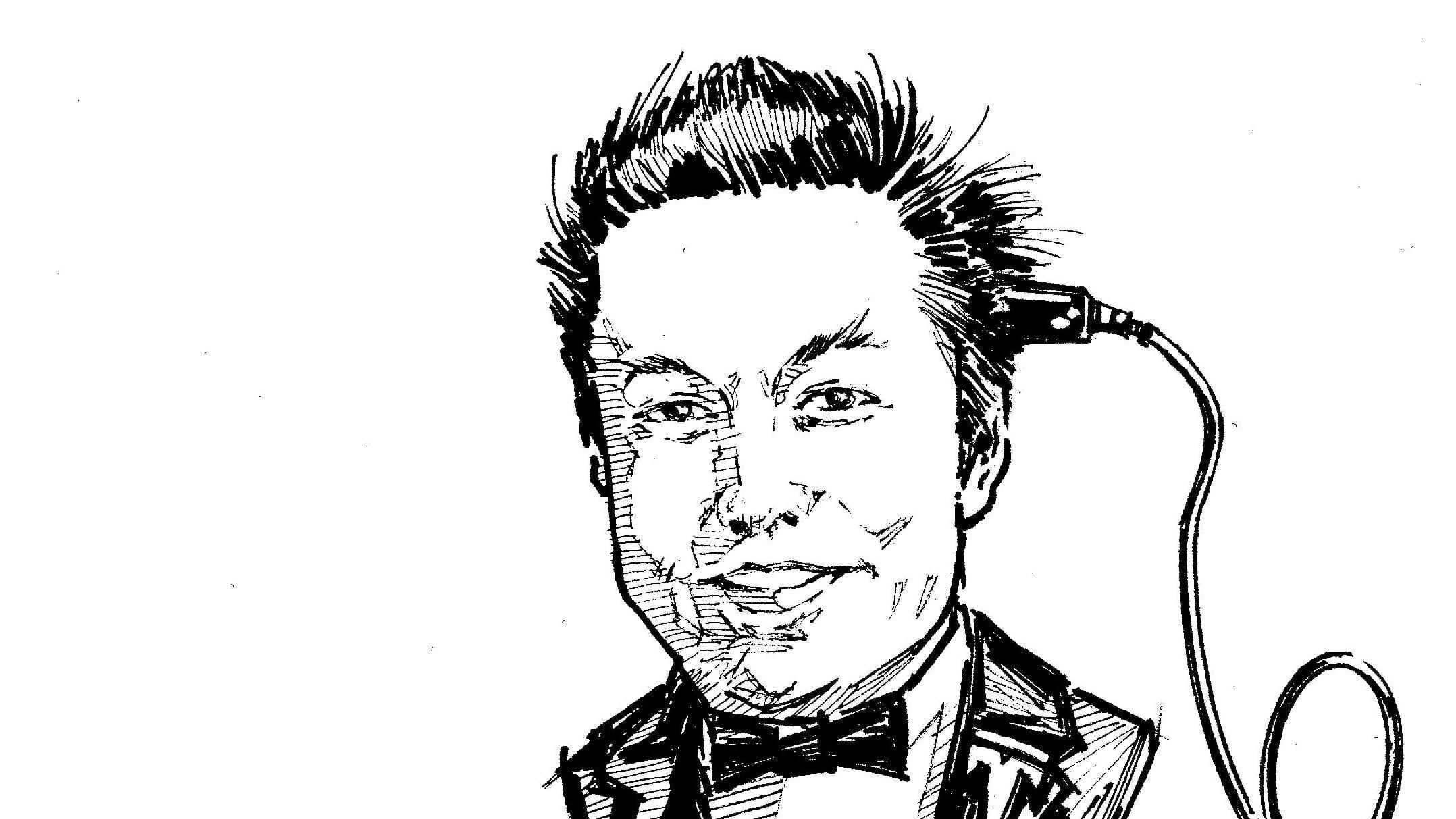 Hector Cademartoris artwork featuring Elon Musk