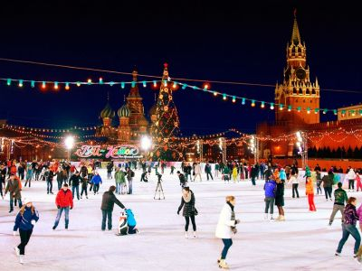 Ice rink on the Red Square