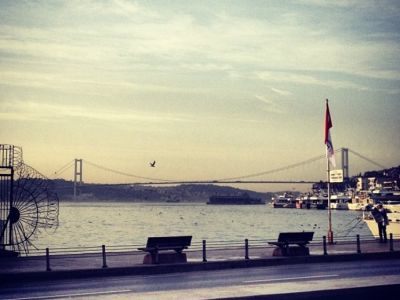 Enjoying the Bosphorus view
