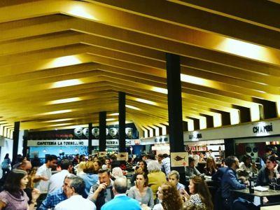 An indoor food market
