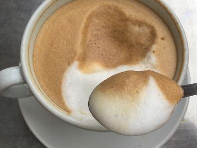 Heartwarming cappuccino
