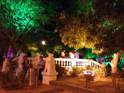 """Parque de los Novios"" by night"