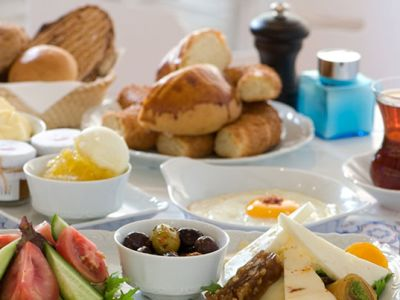 turkish breakfast at Mola Rooms