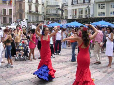 Dancing Sevillanas