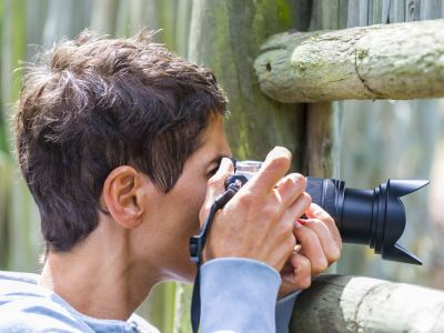 Guest photographing birds