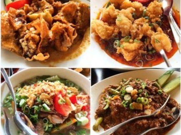 The tasty Indonesian food