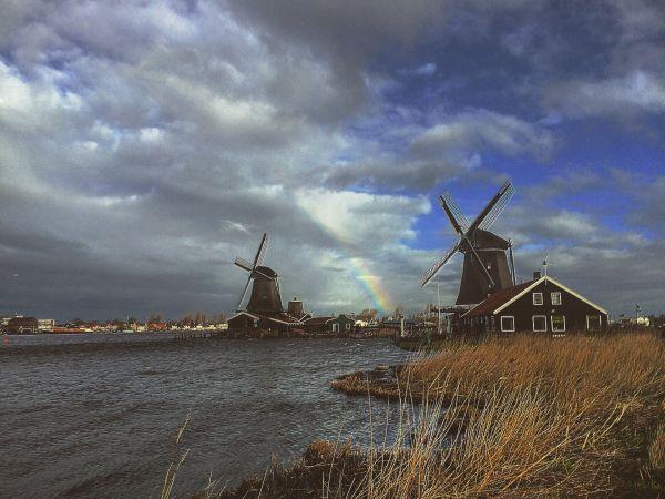 Windmills village