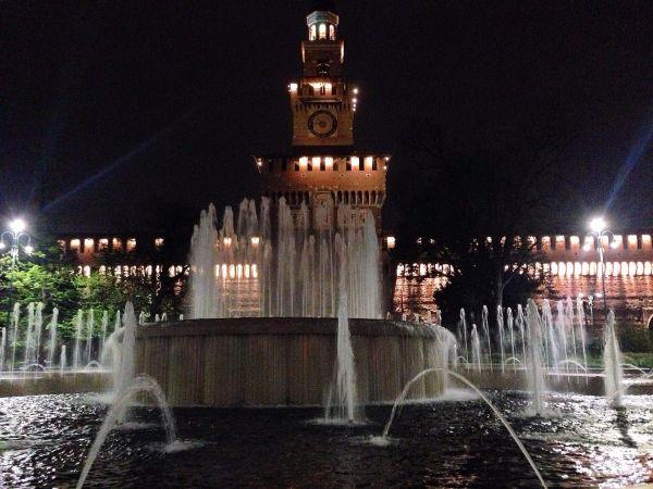Castello at night!