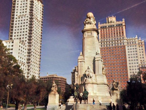 Taken in Plaza de España