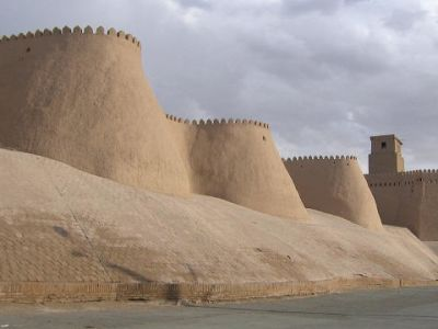 Ichan Qal'a outer side of fortress