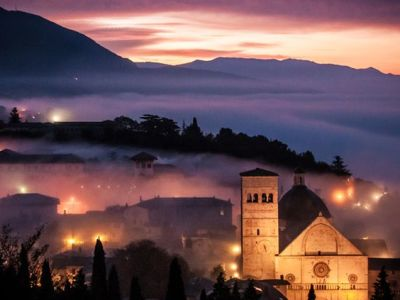 Assisi By Night & Fog