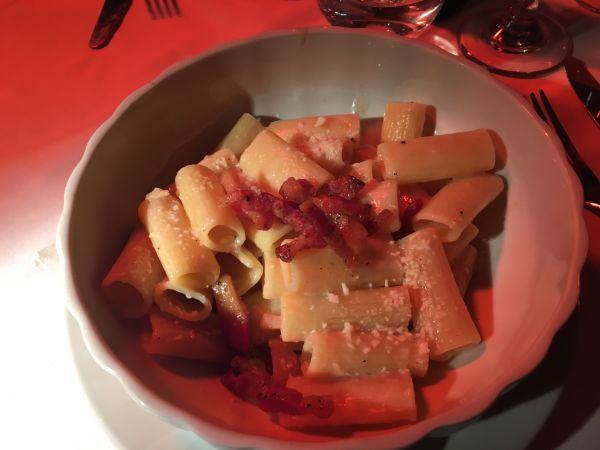 Gricia, typical Roman dish