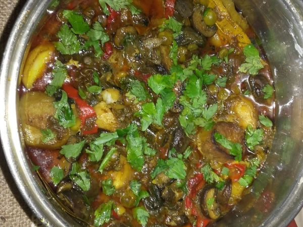 🍄 mushrooms mixed veg masala