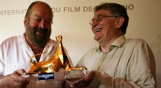 Bud Spencer and Ermanno Olmi in 2004