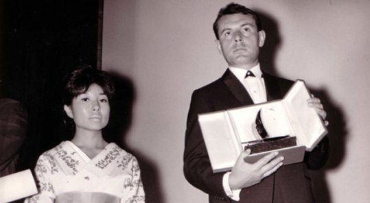 Miloš Forman awarded at the Locarno Festival in 1964