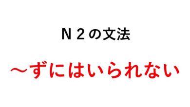 Photo of Học ngữ pháp tiếng Nhật N2 ~ずにはいられない
