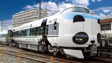 """Photo of Tàu điện gấu trúc """"Panda Kuroshio"""" của JR West"""