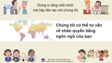 Photo of Cơ quan bảo vệ nhân quyền của Bộ Tư pháp hỗ trợ tư vấn miễn phí cho người nước ngoài