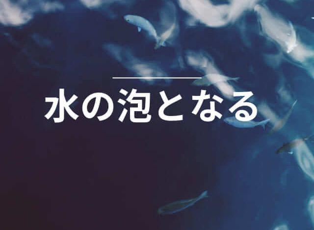 Photo of 水の泡となる – Học quán dụng ngữ để sử dụng tiếng Nhật tự nhiên hơn