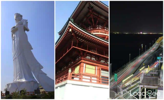Photo of Du lịch Chiba: Tượng Quan Âm, Chùa ngàn tuổi, Bãi đậu xe nổi trên biển