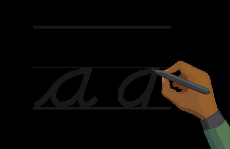 Hand Writing a/a cursive/manuscript