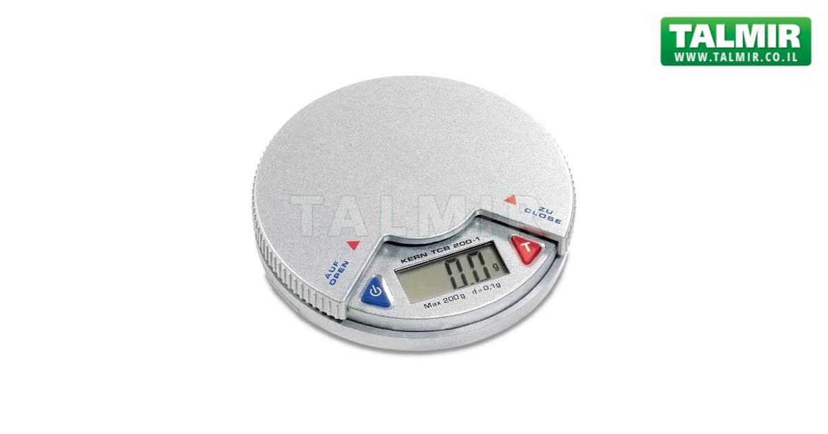 מדהים משקל כיס דיגיטלי - עד 200 גרם - רזולוציה 0.1 גרם - TCB 200-1 PM-08
