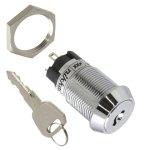 מפסק מנעול ומפתח - DPST - 2POS - ON/ON - 1K/P
