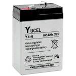 מצבר עופרת נטען - YUCEL Y4-6 - 6V 4AH