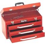 ארגז כלים מפלדה - 3 מגירות + תא עליון - CLARKE CB3