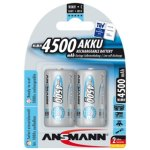 זוג סוללות נטענות - ANSMANN - C - 1.2V 4500MAH - NIMH