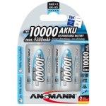 זוג סוללות נטענות - ANSMANN - D - 1.2V 10000MAH - NIMH