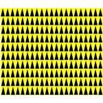 חבילת מדבקות סימון לכרטיסים אלקטרוניים - צהוב / שחור