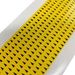 576 מדבקות סימון לכרטיסים אלקטרוניים - צהוב / שחור - BRADY