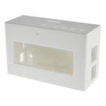 קופסת זיווד לבנה עבור RASPBERRY PI + PIFACE DISPLAY 2