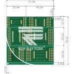 לוח מתאמים לרכיבי TSOP I / II ~ DIP - SMD