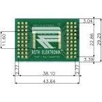 לוח מתאם לרכיבי TSOP I (28-60 PIN) ~ DIP - SMD