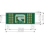 לוח מתאם לרכיבי TSOP I (16-36 PIN) ~ DIP - SMD
