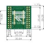 לוח מתאם לרכיבי TSOP II (40-44 PIN) ~ DIP - SMD