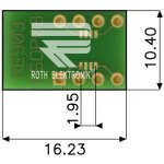 לוח מתאם לרכיבי MSOP-8 ~ DIP - SMD