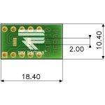 לוח מתאם לרכיבי MSOP-10 ~ DIP - SMD