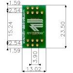 לוח מתאם לרכיבי SSOP-14 ~ DIP - SMD