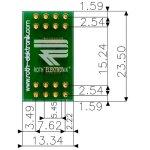 לוח מתאם לרכיבי SSOP-16 ~ DIP - SMD