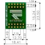 לוח מתאם לרכיבי SSOP-24 ~ DIP - SMD