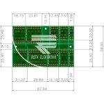 לוח מתאמים לרכיבי SOIC ~ DIP - SMD