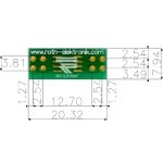 לוח מתאם לרכיבי SOIC-8 ~ DIP - SMD