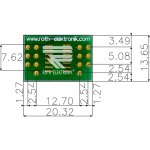 לוח מתאם לרכיבי SOIC-14 ~ DIP - SMD